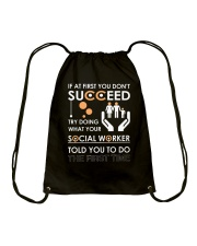 Social Worker You Told Drawstring Bag thumbnail