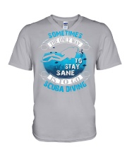 Stay Sane Is To Go Scuba Diving V-Neck T-Shirt thumbnail