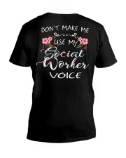 Don't Make Me Use My Social Worker Voice V-Neck T-Shirt thumbnail