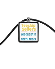 Teechip Sellers Cord Rectangle Necklace front