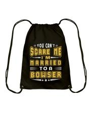 I AM MARRIED BOWSER NAME SHIRTS Drawstring Bag thumbnail