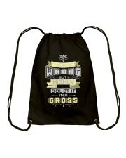 MAY BE WRONG GROSS THING SHIRTS Drawstring Bag thumbnail