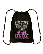 CALL ME FINISHER MAMA JOB SHIRTS Drawstring Bag thumbnail