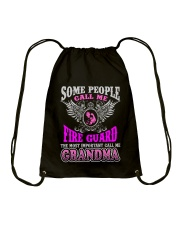 CALL ME FIRE GUARD GRANDMA JOB SHIRTS Drawstring Bag thumbnail