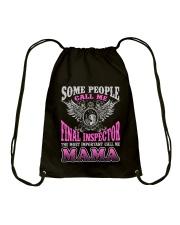 CALL ME FINAL INSPECTOR MAMA JOB SHIRTS Drawstring Bag thumbnail