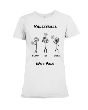 Volleyball With Pals Premium Fit Ladies Tee thumbnail