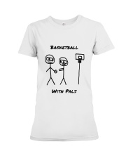 Basketball With Pals Premium Fit Ladies Tee thumbnail