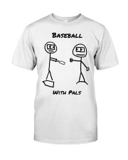 Baseball With Pals Premium Fit Mens Tee front