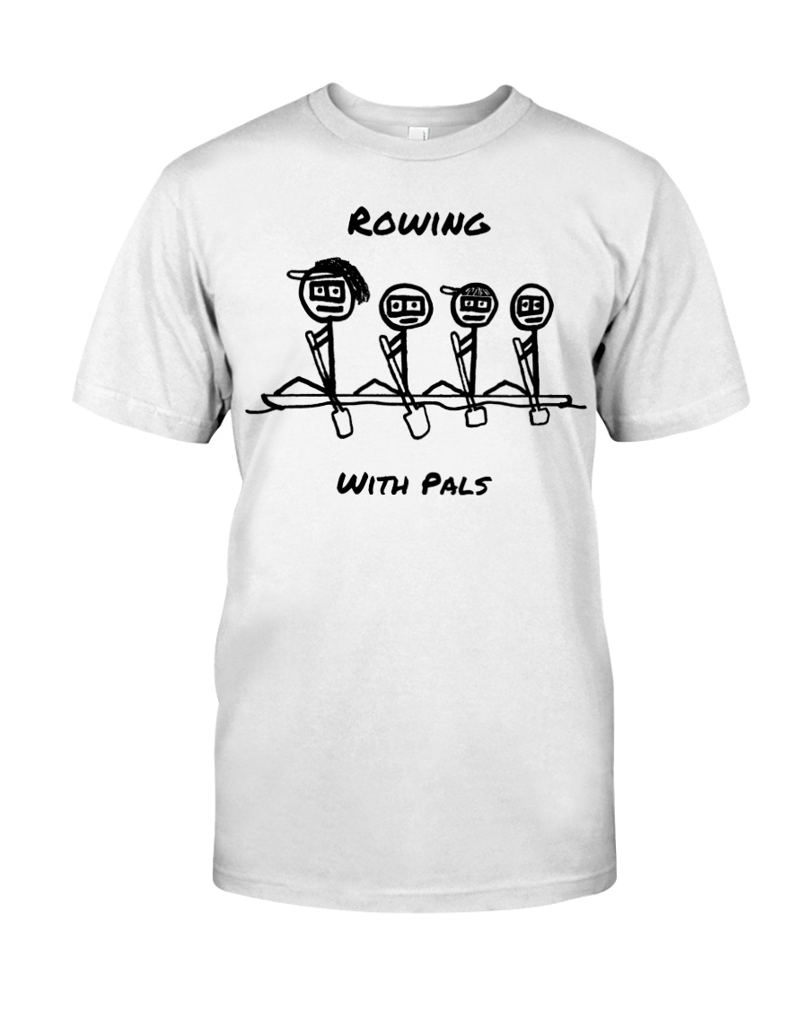 Rowing With Pals Premium Fit Mens Tee