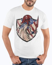 US Spartan shield Premium Fit Mens Tee apparel-premium-fit-men-tee-lifestyle-front-19