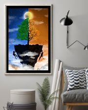 Couple climbing a Cliff 16x24 Poster lifestyle-poster-1