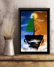 Couple climbing a Cliff 16x24 Poster lifestyle-poster-3
