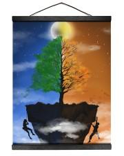 Couple climbing a Cliff 16x20 Black Hanging Canvas thumbnail