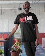 LOVE KEEPS NO RECORD Classic T-Shirt apparel-classic-tshirt-lifestyle-front-34