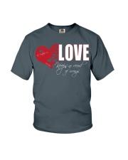 LOVE KEEPS NO RECORD Youth T-Shirt thumbnail