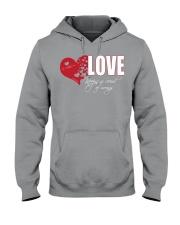 LOVE KEEPS NO RECORD Hooded Sweatshirt thumbnail