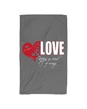 LOVE KEEPS NO RECORD Hand Towel thumbnail