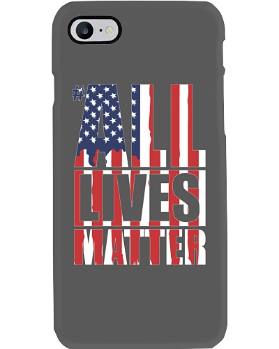 ALL LIVES MATTER with American Flag