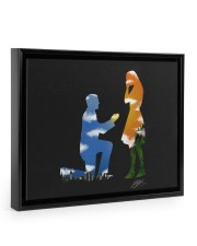 I proposed an she said YES 14x11 Black Floating Framed Canvas Prints thumbnail