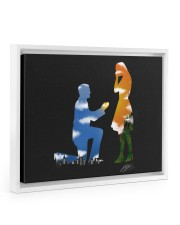 I proposed an she said YES 14x11 White Floating Framed Canvas Prints thumbnail