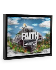 Faith to move Mountains 14x11 Black Floating Framed Canvas Prints front