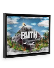 Faith to move Mountains Floating Framed Canvas Prints Black tile
