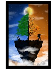 Camera Couple on a Cliff Vertical Poster tile