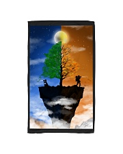 Camera Couple on a Cliff Hand Towel tile