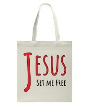 Jesus set me Tote Bag thumbnail