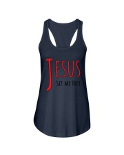 Jesus set me Ladies Flowy Tank thumbnail
