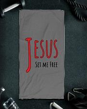 Jesus set me Hand Towel aos-towelhands-front-lifestyle-01