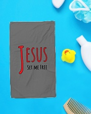 Jesus set me Hand Towel aos-towelhands-front-lifestyle-6