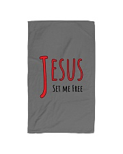 Jesus set me Hand Towel front