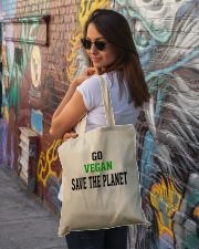 Go Vegan and Save the planet - Limited Edition -  Tote Bag lifestyle-totebag-front-1