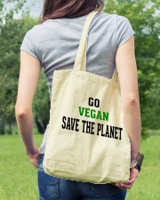 Go Vegan and Save the planet - Limited Edition -  Tote Bag lifestyle-totebag-front-5