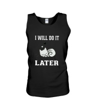 I Will Do It Later Cat Shirt -LIMITED EDITION- Unisex Tank thumbnail