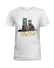 Stay Cool Masked Cats T-Shirt Ladies T-Shirt thumbnail