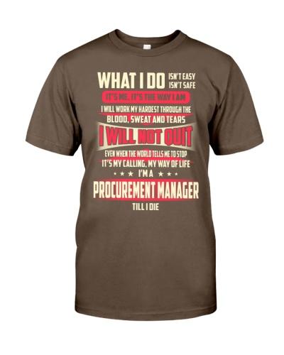 T SHIRT PROCUREMENT MANAGER