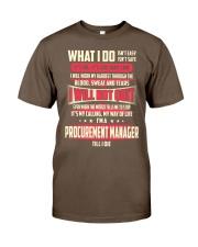 T SHIRT PROCUREMENT MANAGER Classic T-Shirt front
