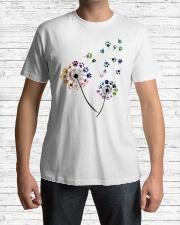 Dog Flower Fly Dandelion dog paw flower t-shirt Classic T-Shirt lifestyle-mens-crewneck-front-1
