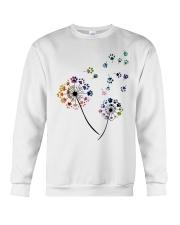 Dog Flower Fly Dandelion dog paw flower t-shirt Crewneck Sweatshirt thumbnail