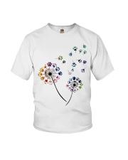 Dog Flower Fly Dandelion dog paw flower t-shirt Youth T-Shirt thumbnail