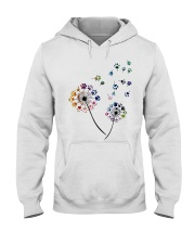 Dog Flower Fly Dandelion dog paw flower t-shirt Hooded Sweatshirt thumbnail