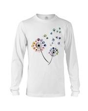 Dog Flower Fly Dandelion dog paw flower t-shirt Long Sleeve Tee thumbnail