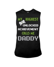 Nerdy Funny Fathers Day Gamer Dad Video Shirt Sleeveless Tee thumbnail