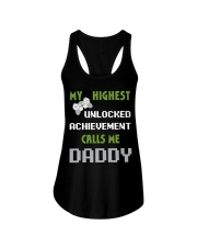 Nerdy Funny Fathers Day Gamer Dad Video Shirt Ladies Flowy Tank thumbnail