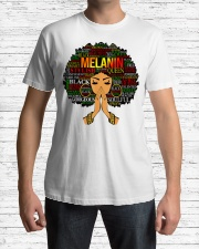 Melanin Words Art Afro Natural Hair Black T-Shirt Classic T-Shirt lifestyle-mens-crewneck-front-1