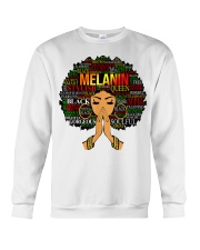 Melanin Words Art Afro Natural Hair Black T-Shirt Crewneck Sweatshirt tile