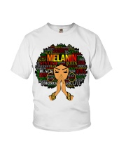 Melanin Words Art Afro Natural Hair Black T-Shirt Youth T-Shirt tile