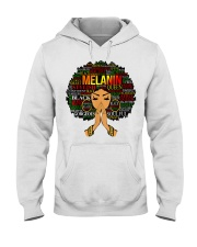 Melanin Words Art Afro Natural Hair Black T-Shirt Hooded Sweatshirt tile